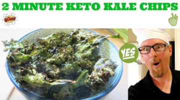Recipe 2 MINUTE KETO KALE CHIPS IN AN AIR FRYER RECIPE