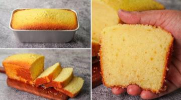 Recipe Basic Plain & Soft Vanilla Sponge Cake Recipe Without Oven | Yummy