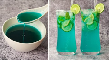 Recipe Blue Curacao Lemonade  With Homemade Syrup | Blue Lagoon Mocktail | Refreshing Summer Drinks