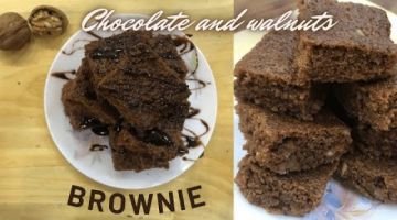 Recipe Chocolate brownie    Chocolate Walnuts Brownie   Instant chocolate brownies without oven and eggs