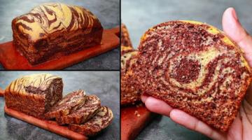 Recipe Coconut Marble Cake Recipe | Coconut Zebra Cake Recipe Without Oven | Yummy