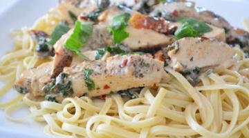 Recipe Creamy Chicken Piccata Pasta