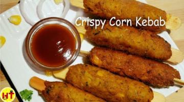 Recipe Crispy Corn Kebab Recipe   Instant Corn Shikh Kebab   Party Appetizer