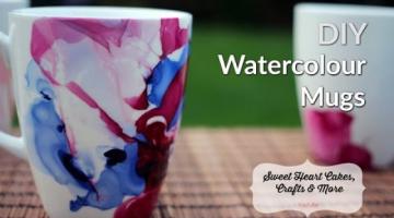 Recipe DIY Watercolour Mugs