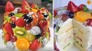 Recipe FRUIT JELLY CHEESECAKE   Vanilla Chiffon Cake with Cream Cheese Frosting