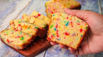 Recipe Funfetti Cake Recipe | Eggless & Without Oven | Easy Funfetti Pound Cake | Yummy