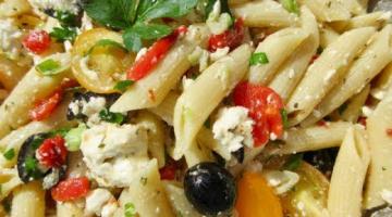 Recipe GREEK PASTA SALAD | Fun Festive Food | DIY Demonstration