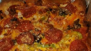Recipe Homemade Deep Dish Pizza - Easy