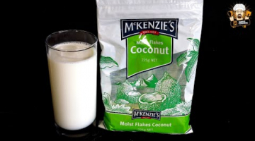 Recipe HOW TO MAKE COCONUT MILK IN 3 MINUTES
