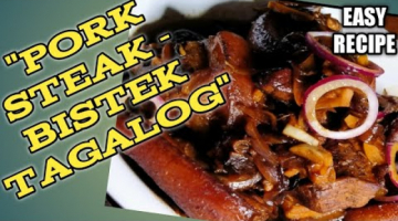 Recipe HOW TO MAKE PORK STEAK/BISTEK TAGALOG/BISTEK