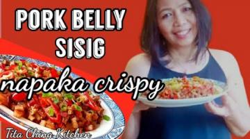 Recipe Crispy pork belly Sisig