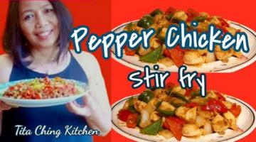 Recipe Pepper Breast Chicken Stir fry