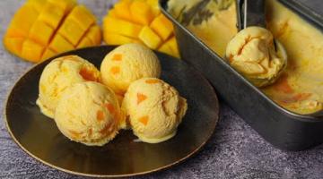 Recipe Mango Ice Cream Recipe | Homemade Mango Ice Cream Recipe Without Condensed Milk | Yummy