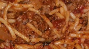 Recipe Spaghetti - quick and easy
