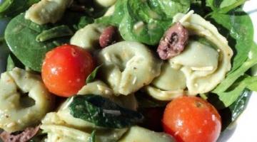 Recipe SPINACH & TORTELLINI SALAD