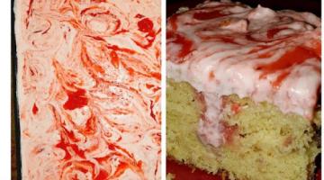Recipe Strawberry Lemonade Poke Cake using a Yellow box cake - EASY!!