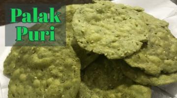 Recipe Tea time snack Palak Puri   Crispy Spinach Puri   Namkeen Palak Puri