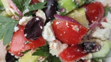 Recipe Traditional GREEK SALAD - How to make GREEK SALAD Recipe