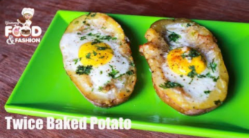 Recipe Twice Baked Potato with Egg on Top || Baked Potato Recipe || How to Make Egg Stuffed Potatoes