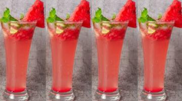 Recipe Watermelon Mojito Drinks #Shorts | Summer Mocktail Recipe